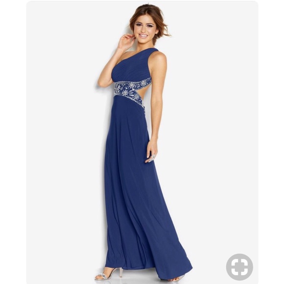 c2590501f82 SALE❗️Blondie Nites Juniors  One-Shoulder Dress
